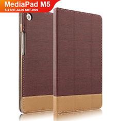 Huawei MediaPad M5 8.4 SHT-AL09 SHT-W09用手帳型 レザーケース スタンド L04 ファーウェイ ブラウン