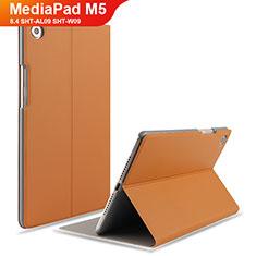 Huawei MediaPad M5 8.4 SHT-AL09 SHT-W09用手帳型 レザーケース スタンド L05 ファーウェイ ブラウン