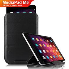 Huawei MediaPad M5 8.4 SHT-AL09 SHT-W09用手帳型 レザーケース スタンド L06 ファーウェイ ブラック