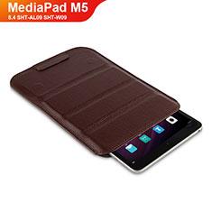 Huawei MediaPad M5 8.4 SHT-AL09 SHT-W09用手帳型 レザーケース スタンド L07 ファーウェイ ブラウン