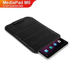 Huawei MediaPad M5 8.4 SHT-AL09 SHT-W09用手帳型 レザーケース スタンド L07 ファーウェイ ブラック