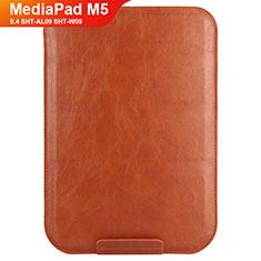 Huawei MediaPad M5 8.4 SHT-AL09 SHT-W09用手帳型 レザーケース スタンド L08 ファーウェイ ブラウン