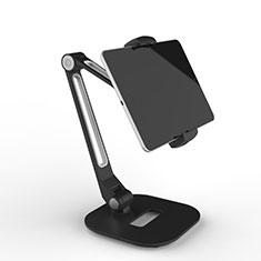 Huawei MediaPad M5 8.4 SHT-AL09 SHT-W09用スタンドタイプのタブレット クリップ式 フレキシブル仕様 T46 ファーウェイ ブラック