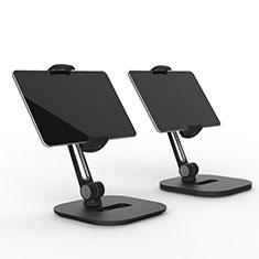 Huawei MediaPad M5 8.4 SHT-AL09 SHT-W09用スタンドタイプのタブレット クリップ式 フレキシブル仕様 T47 ファーウェイ ブラック