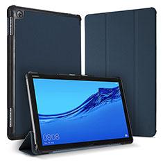 Huawei MediaPad M5 Lite 10.1用手帳型 レザーケース スタンド カバー ファーウェイ ネイビー