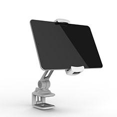 Huawei MediaPad M5 Lite 10.1用スタンドタイプのタブレット クリップ式 フレキシブル仕様 T45 ファーウェイ シルバー
