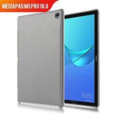 Huawei MediaPad M5 Pro 10.8用ケース 高級感 手触り良いレザー柄 ファーウェイ グレー