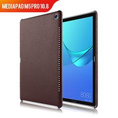 Huawei MediaPad M5 Pro 10.8用ケース 高級感 手触り良いレザー柄 ファーウェイ ブラウン