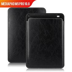 Huawei MediaPad M5 Pro 10.8用手帳型 レザーケース スタンド ファーウェイ ブラック