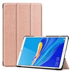Huawei MediaPad M6 8.4用手帳型 レザーケース スタンド カバー ファーウェイ ローズゴールド