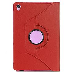Huawei MediaPad M6 8.4用手帳型 レザーケース スタンド カバー L03 ファーウェイ レッド