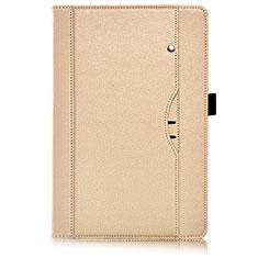 Huawei MediaPad M6 8.4用手帳型 レザーケース スタンド カバー L07 ファーウェイ ゴールド