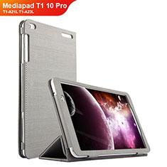 Huawei Mediapad T1 10 Pro T1-A21L T1-A23L用手帳型 布 スタンド ファーウェイ グレー