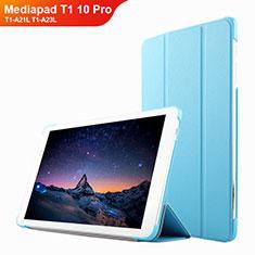 Huawei Mediapad T1 10 Pro T1-A21L T1-A23L用手帳型 レザーケース スタンド L02 ファーウェイ ブルー