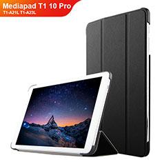 Huawei Mediapad T1 10 Pro T1-A21L T1-A23L用手帳型 レザーケース スタンド L02 ファーウェイ ブラック
