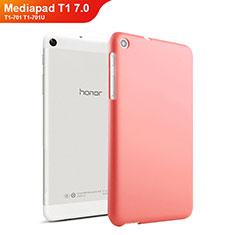 Huawei Mediapad T1 7.0 T1-701 T1-701U用ハードケース プラスチック 質感もマット ファーウェイ レッド
