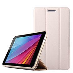 Huawei Mediapad T2 7.0 BGO-DL09 BGO-L03用手帳型 レザーケース スタンド ファーウェイ ゴールド