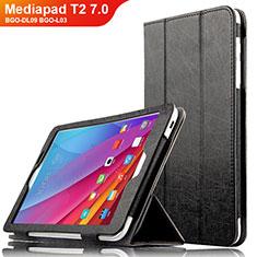 Huawei Mediapad T2 7.0 BGO-DL09 BGO-L03用手帳型 レザーケース スタンド L01 ファーウェイ ブラック