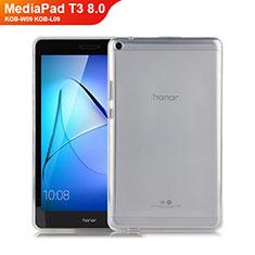 Huawei MediaPad T3 8.0 KOB-W09 KOB-L09用極薄ソフトケース シリコンケース 耐衝撃 全面保護 クリア透明 カバー ファーウェイ クリア
