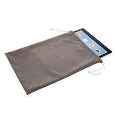 Huawei MediaPad T3 8.0 KOB-W09 KOB-L09用高品質ソフトベルベットポーチバッグ ケース ファーウェイ グレー