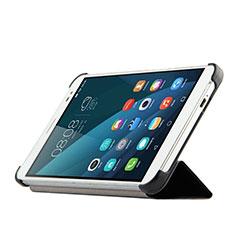 Huawei MediaPad X2用手帳型 レザーケース スタンド ファーウェイ ブラック