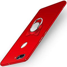 Huawei Nova 2 Plus用ハードケース プラスチック 質感もマット アンド指輪 A04 ファーウェイ レッド
