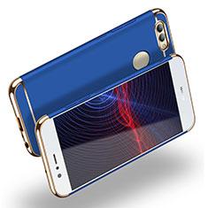 Huawei Nova 2 Plus用ケース 高級感 手触り良い メタル兼プラスチック バンパー M02 ファーウェイ ネイビー