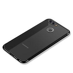 Huawei Nova 2 Plus用極薄ソフトケース シリコンケース 耐衝撃 全面保護 クリア透明 H02 ファーウェイ ブラック