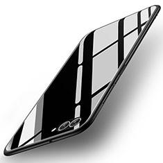 Huawei Nova 2S用ハイブリットバンパーケース プラスチック 鏡面 カバー ファーウェイ ブラック