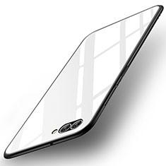 Huawei Nova 2S用ハイブリットバンパーケース プラスチック 鏡面 カバー ファーウェイ ホワイト