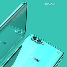 Huawei Nova 2S用極薄ソフトケース シリコンケース 耐衝撃 全面保護 クリア透明 T02 ファーウェイ ネイビー