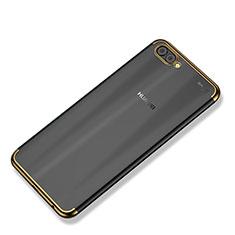 Huawei Nova 2S用極薄ソフトケース シリコンケース 耐衝撃 全面保護 クリア透明 H02 ファーウェイ ゴールド