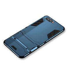 Huawei Nova 2S用ハイブリットバンパーケース スタンド プラスチック 兼シリコーン ファーウェイ ネイビー