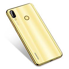Huawei Nova 3用極薄ソフトケース シリコンケース 耐衝撃 全面保護 クリア透明 H01 ファーウェイ ゴールド