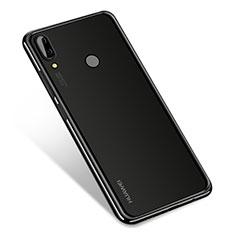 Huawei Nova 3用極薄ソフトケース シリコンケース 耐衝撃 全面保護 クリア透明 H01 ファーウェイ ブラック