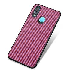 Huawei Nova 3用シリコンケース ソフトタッチラバー ツイル カバー ファーウェイ パープル