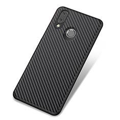 Huawei Nova 3用シリコンケース ソフトタッチラバー ツイル カバー ファーウェイ ブラック