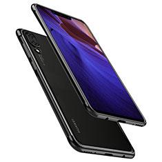 Huawei Nova 3用極薄ソフトケース シリコンケース 耐衝撃 全面保護 クリア透明 H02 ファーウェイ ブラック
