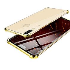 Huawei Nova 3用極薄ソフトケース シリコンケース 耐衝撃 全面保護 クリア透明 H03 ファーウェイ ゴールド