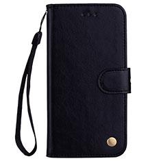 Huawei Nova 3e用手帳型 レザーケース スタンド カバー L07 ファーウェイ ブラック