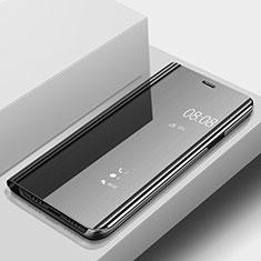 Huawei Nova 3e用手帳型 レザーケース スタンド 鏡面 カバー ファーウェイ ブラック