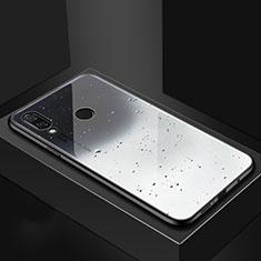 Huawei Nova 3i用ハイブリットバンパーケース プラスチック パターン 鏡面 カバー ファーウェイ グレー