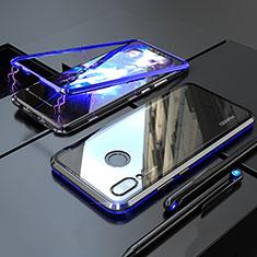 Huawei Nova 3i用ケース 高級感 手触り良い アルミメタル 製の金属製 360度 フルカバーバンパー 鏡面 カバー M01 ファーウェイ ネイビー