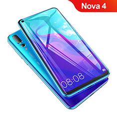 Huawei Nova 4用強化ガラス フル液晶保護フィルム F05 ファーウェイ ブラック