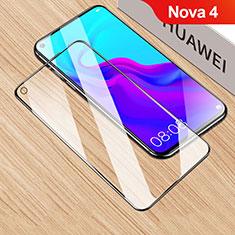 Huawei Nova 4用強化ガラス フル液晶保護フィルム F06 ファーウェイ ブラック