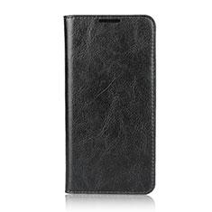 Huawei Nova 4e用手帳型 レザーケース スタンド カバー L05 ファーウェイ ブラック