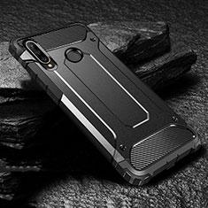 Huawei Nova 4e用ハイブリットバンパーケース プラスチック 兼シリコーン カバー ファーウェイ ブラック