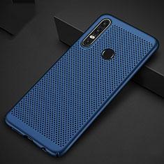 Huawei Nova 4e用ハードケース プラスチック メッシュ デザイン カバー P01 ファーウェイ ネイビー