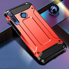 Huawei Nova 4e用ハイブリットバンパーケース プラスチック 兼シリコーン カバー R01 ファーウェイ レッド