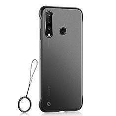 Huawei Nova 4e用極薄ケース クリア透明 プラスチック 質感もマットH05 ファーウェイ ブラック